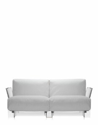 Kartell Pop Outdoor Two Seater Sofa with Cushion Color: Sunbrella outdoor White