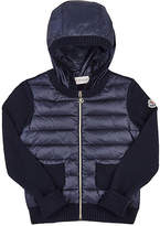 Moncler Sweater-Sleeve Zip-Front Cardigan