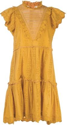 Sea Tiered Mini Dress