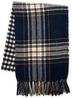 Steve Madden Check & Plaid Blanket Wrap