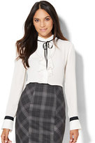 Piped Ruffle Blouse