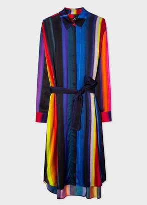 Paul Smith Women's 'Horizon' Stripe Satin Shirt Dress