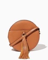 Charming charlie Circle Tassel Crossbody