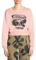 Moschino Cropped Logo Sweatshirt