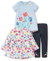 Little Me Baby's Three-Piece Floral Top, Tunic and Pants Set