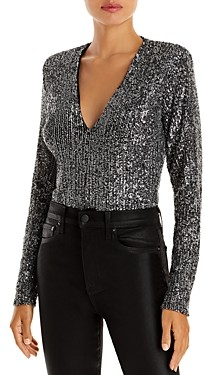 Bardot Siren Sequined Bodysuit