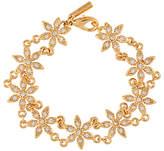 Susan Caplan Vintage 1980s D'Orlan 22ct Gold Plated Swarovski Crystal Flower Bracelet, Gold