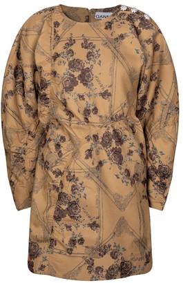 Ganni Embellished jacquard minidress