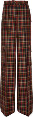 Bouguessa Printed Tweed Straight-Leg Wool-Blend Pants