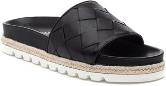 J/Slides Rollie Woven Espadrille Flat Slide Sandals