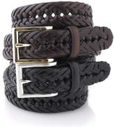 Club Room Big and Tall Braided Leather Belt