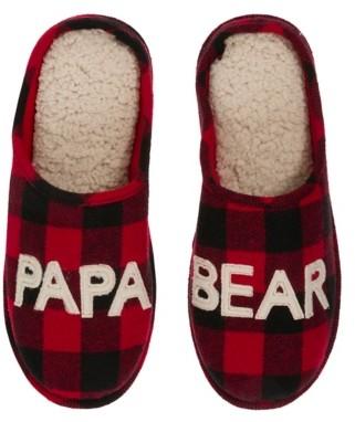 Dearfoams Papa Bear Scuff Slipper