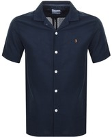 Farah Short Sleeved Archie Shirt Navy