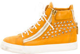 Giuseppe Zanotti Suede Spiked High-Top Sneakers