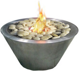 Oasis Anywhere Fireplaces Burshed Stainless Steel Indoor/Outdoor Firepalce