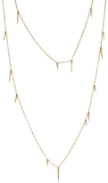 Marion Cage Small 34 Inch Point Scatter Necklace - Yellow Gold
