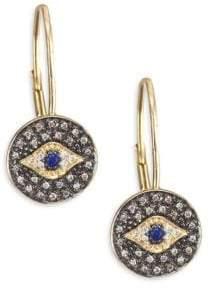 Sydney Evan Diamond Medallion Eye Drop Earrings