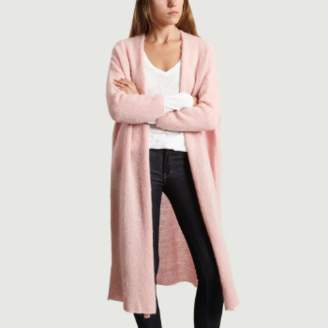 American Vintage Long Pink Wool and Acrylic Vapcloud Cardigan - U | Wool and Acrylic | candy pink - Candy pink