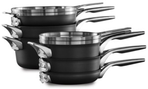 Calphalon Premier Space-Saving Hard-Anodized 10-Pc. Nonstick Cookware Set
