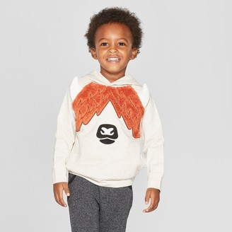 Cat & Jack Toddler Boys' Highland Cow Critter Hoodie - Cat & JackTM Oatmeal