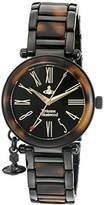 Vivienne Westwood Women's VV006BKBR Analog Display Swiss Quartz Two-Tone Watch