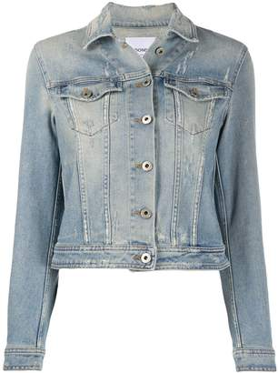 Dondup distressed detail light wash denim jacket