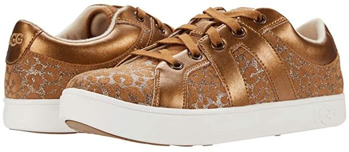 Ugg Kids Marcus Sneaker Glitter Leopard (Toddler/Little Kid/Big Kid) (Chestnut) Girl's Shoes