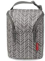 Skip Hop Grab and Go Double Bottle Bag, Grey Feather
