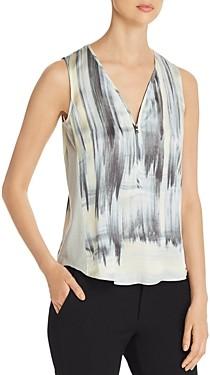 Go by Go Silk Sleeveless Printed V-Neck Top