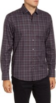 Zachary Prell Thomas Regular Fit Plaid Button-Up Sport Shirt