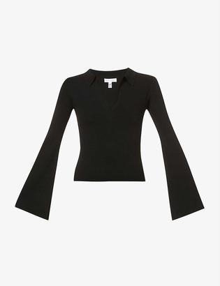 Pretty Lavish Hayden V-neck stretch-knit top