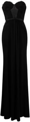 Elisabetta Franchi Lace-Panelled Floor-Length Gown