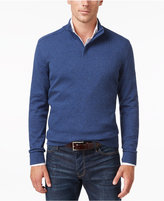 Alfani Men's Mock-Turtleneck Quarter-Zip Sweater, Only at Macy's