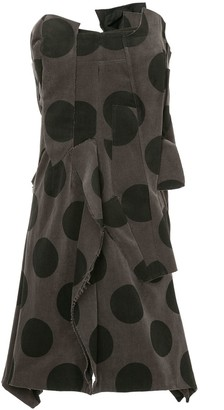 Comme des Garcons Pre-Owned deconstructed polka dot dress