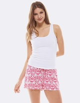 Deshabille Hope Short & Tank Set Pink&White