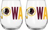 Redskins Unbranded Boelter Washington Stemless Wine Glass Set
