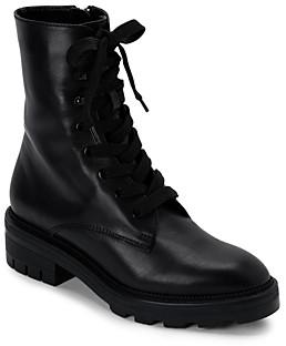 Dolce Vita Women's Lottie Almond Toe Leather Combat Booties