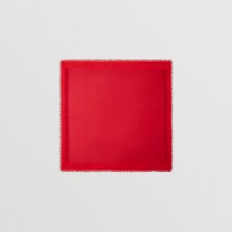Burberry Metallic Monogram Silk Blend Large Square Scarf