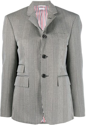 Thom Browne Houndstooth-Check Single-Breasted Blazer