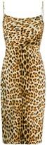 Roberto Cavalli leopard-print fitted dress