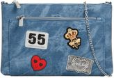 **Faux Leather Denim Feeling Clutch Bag by Koko Couture