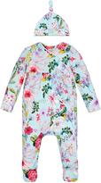 Monsoon Newborn Florence Print Sleepsuit and Hat