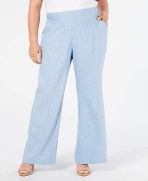 INC International Concepts Inc Plus Size V-Front Wide-Leg Pants, Created for Macy's