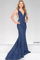 Jovani Jersey Plunging Neckline Prom Dress 45811