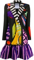 Moschino painted print blazer-style dress
