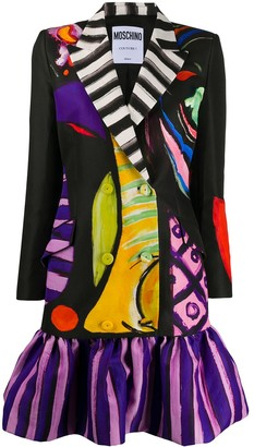Moschino painted print blazer-style dress