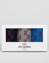 Ben Sherman 3 Pack Sock Gift Box Union Jack