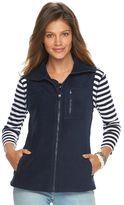 Chaps Women's Solid Fleece Vest