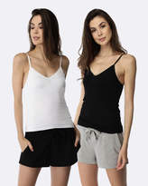 Deshabille My Everything Cami 2 Pack Black & White