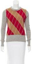Dolce & Gabbana Argyle Wool Sweater